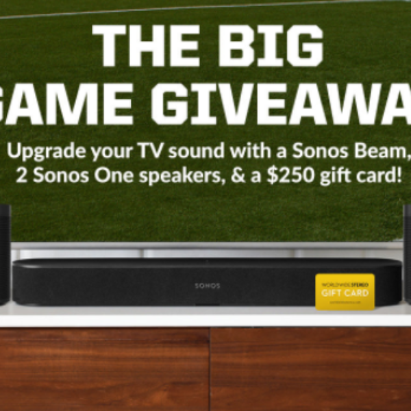 Win a Sonos Beam & 2 Sonos One Speakers