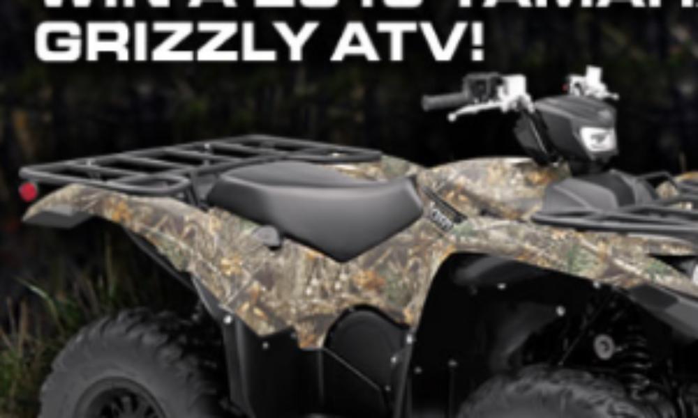 Win a 2019 Yamaha Grizzly ATV