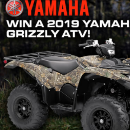 Win a 2019 Yamaha Grizzly ATV