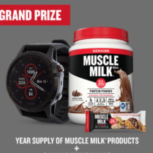 Win a Year of Muscle Milk + Garmin Fenix 5 Plus
