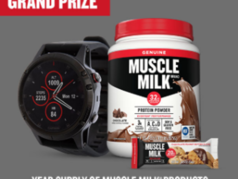 Win a Year of Muscle Milk + Garmin Fenix 5 Plus