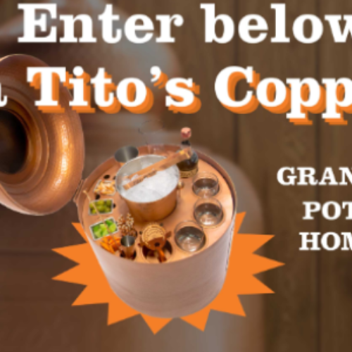 Win a Tito's Copper Pot Still Home Bar