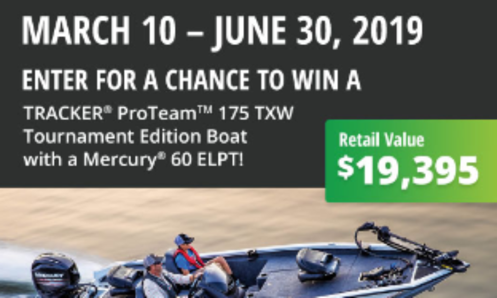 Win a TRACKER ProTeam Tournament Edition Bass Boat