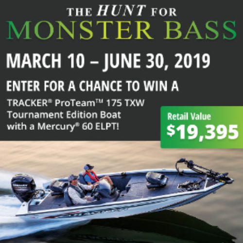 bass boat sweepstakes 2019 win a tracker proteam tournament edition bass boat 8955
