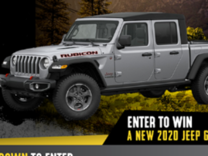 Win a 2020 Jeep Gladiator