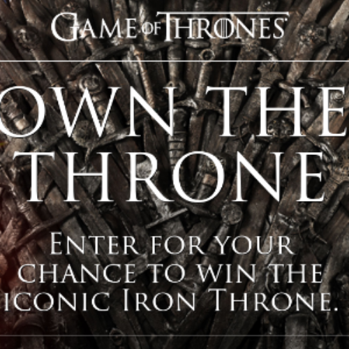 Win a Game of Thrones Throne + $5,400
