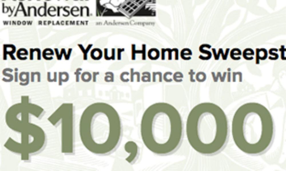 Win $10,000 in Windows & Doors from Anderson