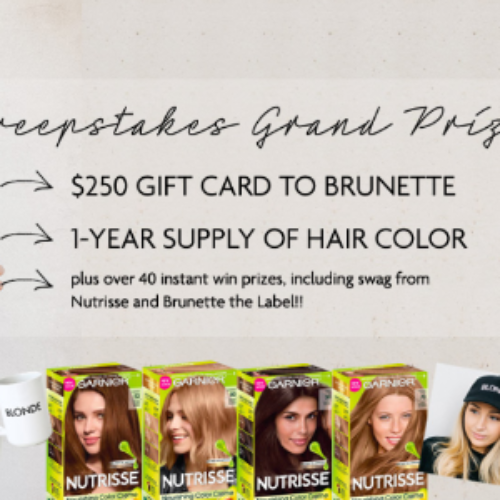 Win 1-Year Supply of Garnier Nutrisse + $250 Gift Card