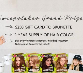 Win 1-Year Supply of Garnier Nutrisse + $250 Gift Card