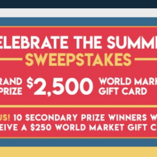 Win a World Market Gift Card