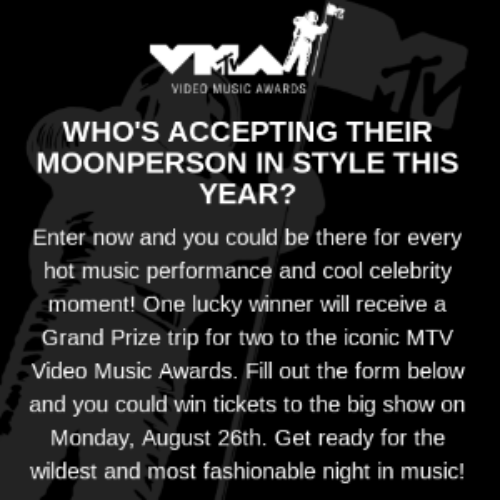 Win a Trip to the MTV Video Music Awards in NYC