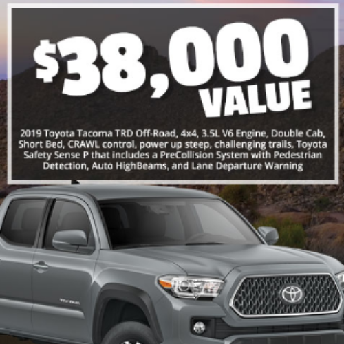 Win a Toyota Tacoma TRD 4x4 Truck from Cabela's
