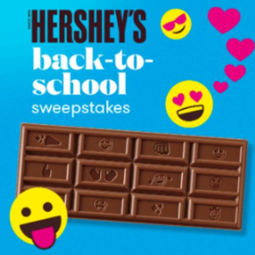 Win 1 of 4,500 Boxes of Hershey's Emoji Bars