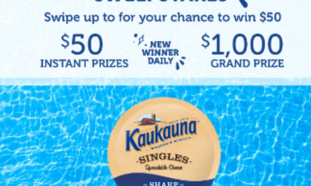Win a $1,000 VISA Gift Card from Kaukauna