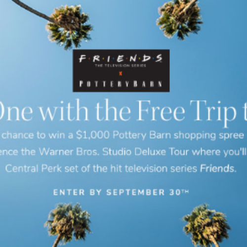 Win a Pottery Barn Shopping Spree + LA Trip