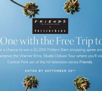 Win a Trip to the Set of Friends + Pottery Barn Shopping