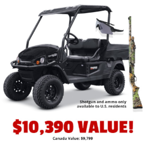 Win a TRACKER SxS, Winchester Shotgun, and Hunting Trip