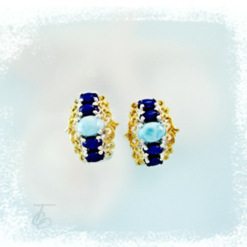 Win a Pair of Larimar & Lapis Earrings