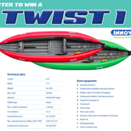 Win an Inflatable Innova TWIST 1 Kayak