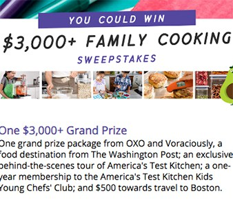 Win a $3K Family Cooking Prize Package