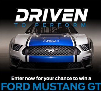 Win a Ford Mustang GT or NASCAR Trip