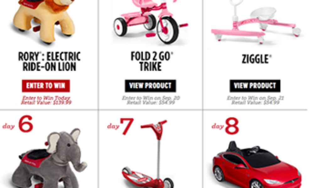 Win a Toy Every Day from Radio Flyer