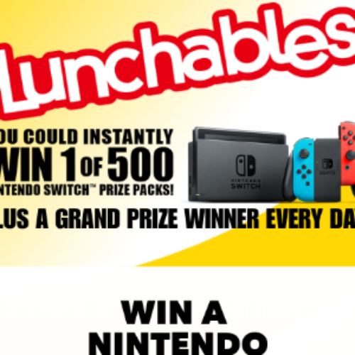 Win 1 of 500 Nintendo Switch Prize Packs from Lunchables