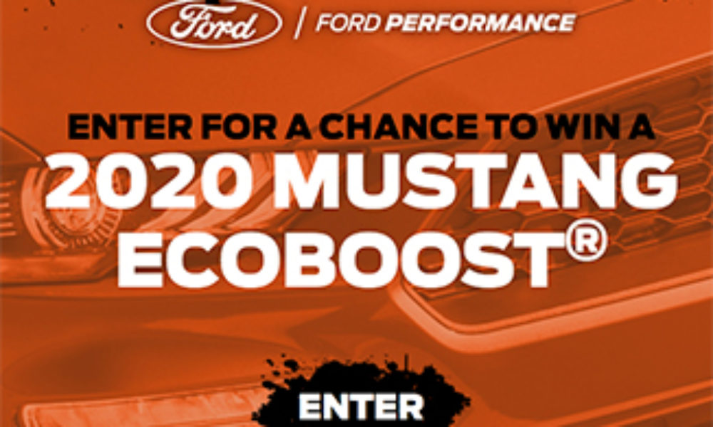 Win a 2020 Ford Mustang EcoBoost