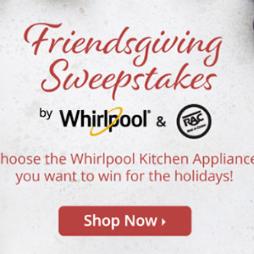 Win a Whirlpool Gas Range or Refrigerator