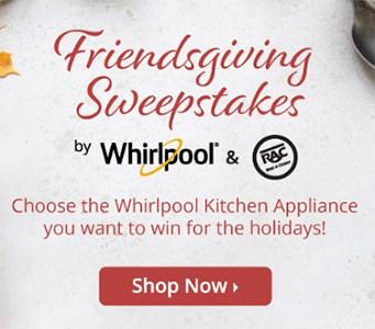 Win a Whirlpool Gas Range or Refrigerator