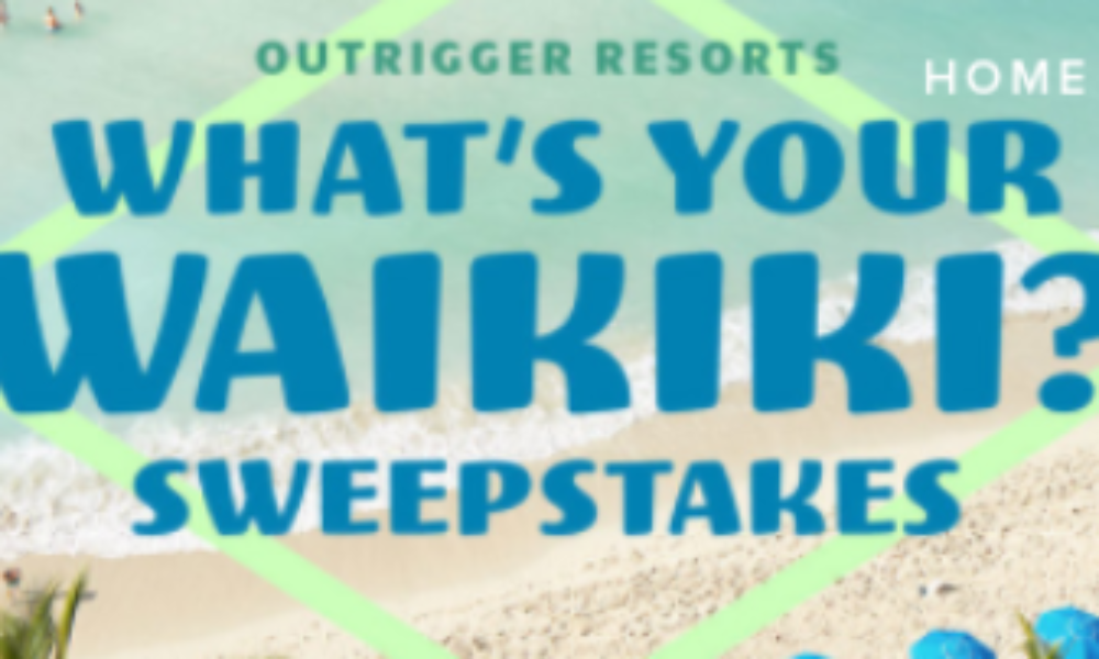 Win an Outrigger Resorts Vacation in Hawaii