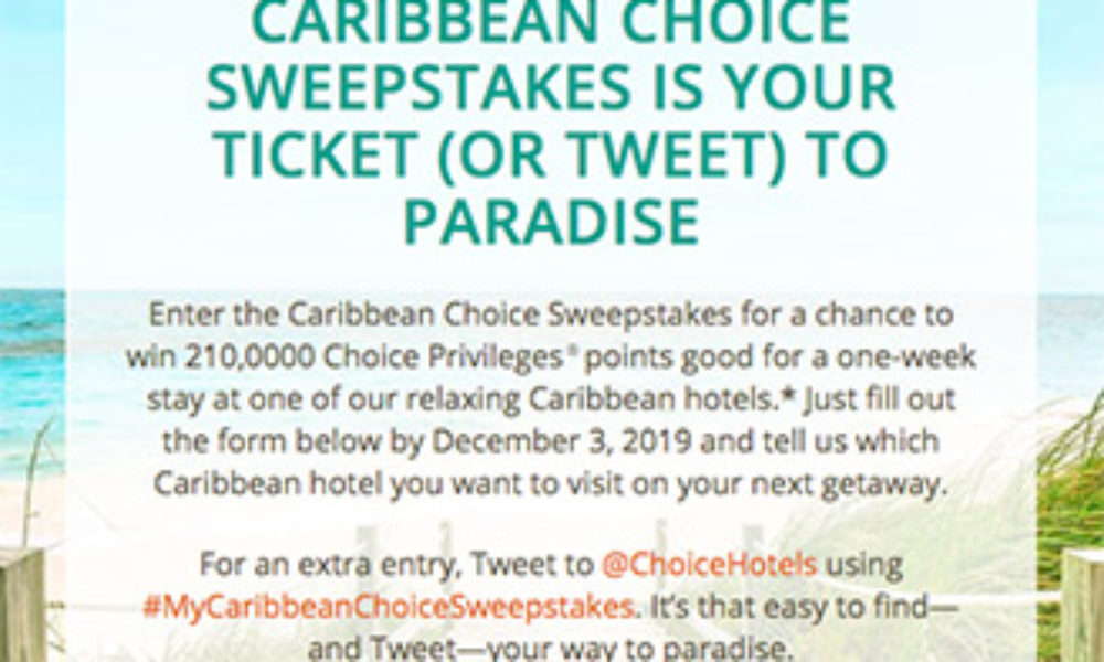 Win a Relaxing Stay in the Caribbean from Choice Hotels