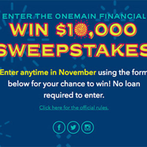 Win $10K from OneMain Financial