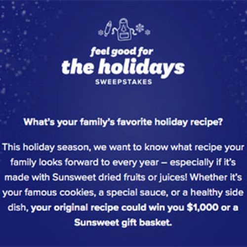 Win $1,000 or a Sunsweet Gift Basket