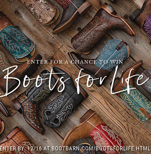 Win Boots for Life from Boot Barn
