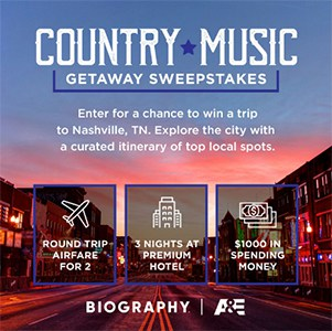 Win a Country Music Getaway to Nashville, TN