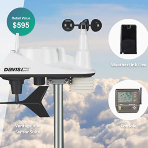 Win a Davis Vantage Vue Weather Station Bundle