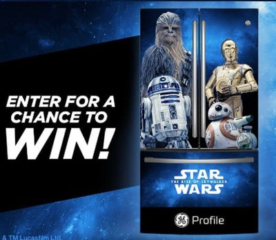 Win a Star Wars Themed Refrigerator from GE