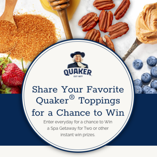 Win a Spa Getaway from Quaker