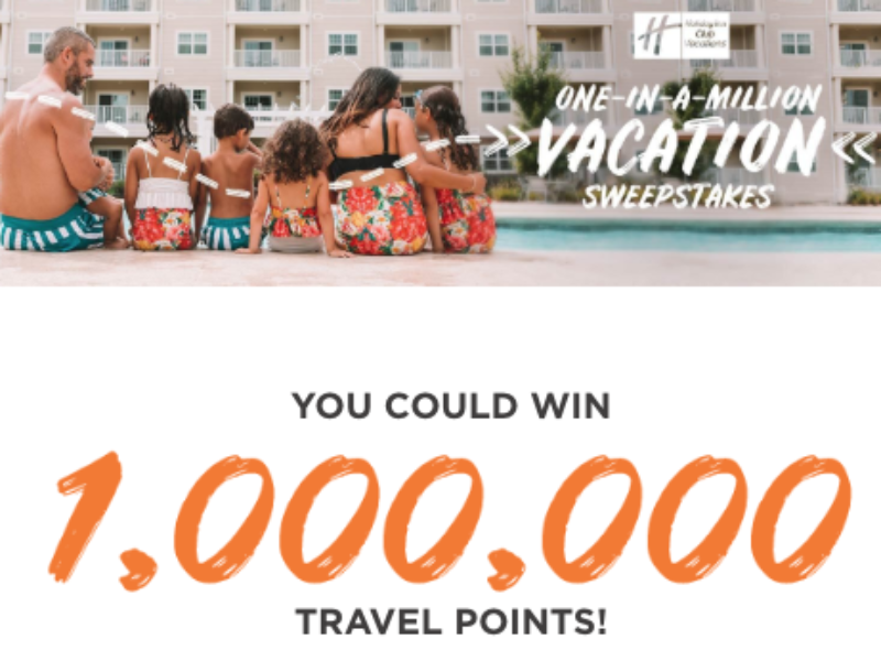 Win $5K + Million Travel Points from Holiday Inn