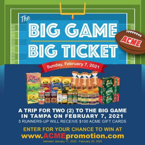 Win a Trip to the Big Game in 2021