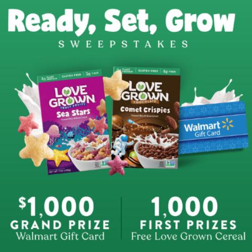 Win a $1K Walmart Gift Card from Love Grown