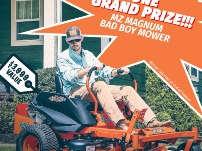Win a Bad Boy Mower from Major League Fishing