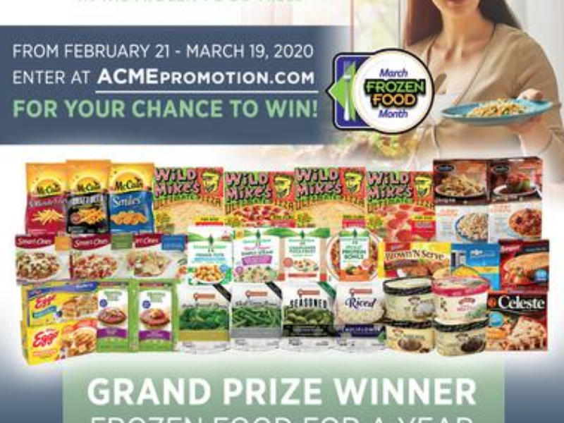 Win a Year of Frozen Food from ACME Markets