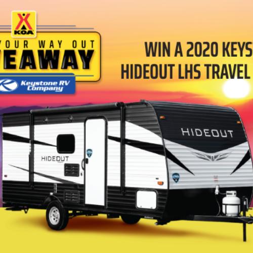 Win a Keystone Hideout Travel Trailer from KOA