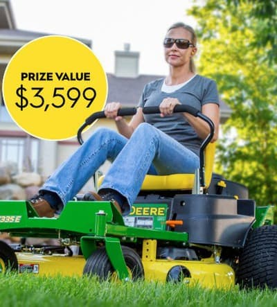 Win a John Deere Z335E Residential ZTrak Mower