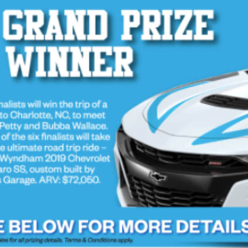 Win a Chevy Camaro SS from Petty's Garage