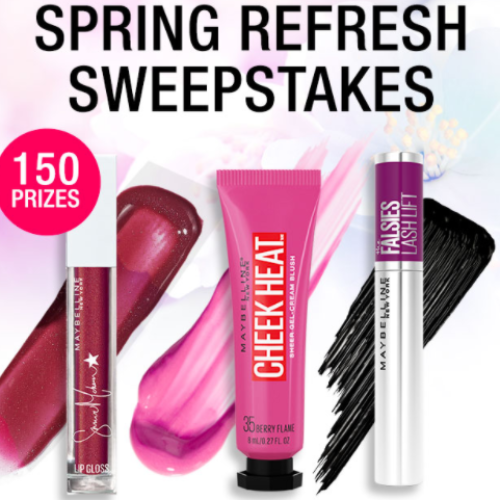 Win 1 of 150 Maybelline Makeup Prizes