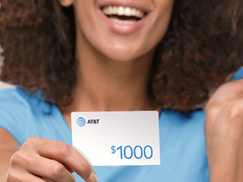 Win a $1K AT&T Rewards Card