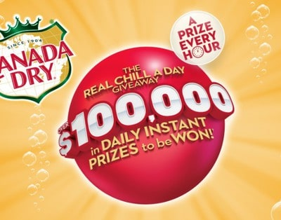 Win Part of $100K in Prizes from Canada Dry